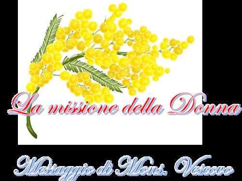 Missione Donna- lettera di mons. Vescovo
