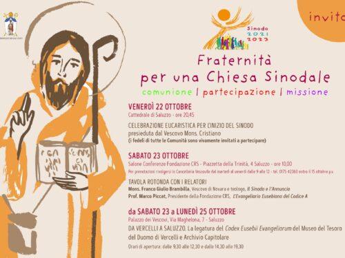 Inizio Sinodo Diocesano          Venerdi' 22 ottobre                    ore 20,45 in cattedrale